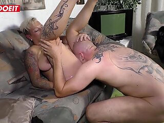 Dirty amateur German granny gets picked up and fucked