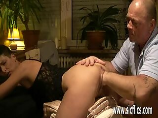 Fisting his wifes cavernous loose pussy