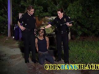 Ebony convict blasting curvy MILFs with plenty of cum