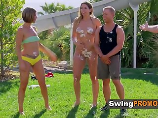 MILF curious couple try SWINGER for the fist time
