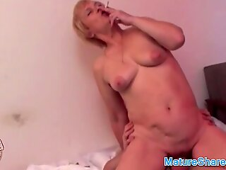 Granny Gives a Bj While Smoking