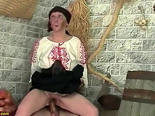 ugly hairy 92 years old granny rough doggystyle fucked by her young toyboy