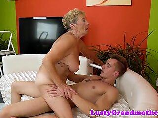 european grandmother loves getting plumbed