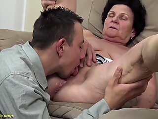 extreme hairy 86 years old mom needs a young dick