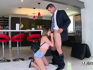 Girlfriend is overexcited and horny when she sees her man