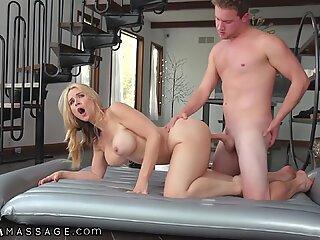 NuruMassage Sarah Vandella gives a Pounding Gift to her Military Stepson