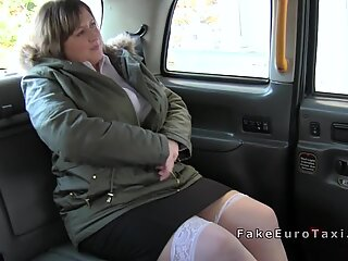 Busty bbw rimming and fucking in fake taxi