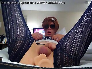 Granny Tranny dildo pt. 1