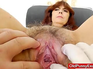 Grandmother gets her piss hole gaped during a gyno