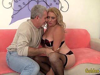 Mature woman Cristine Ruby sucking and fucking