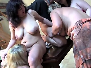 gangbang with 4 mature huge-titted moms and sonny