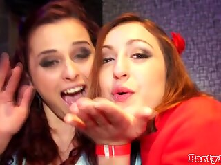 Euro amateur cocksucking in group before sex