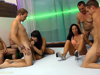 German amateur orgy with lots of cream fillingsReport this video