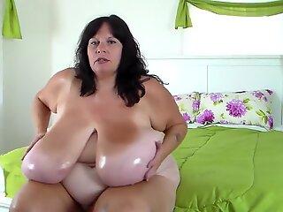 Gigantic boobs mom
