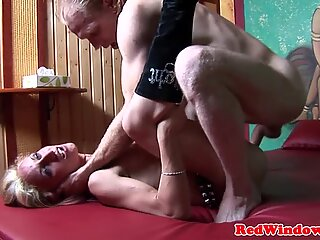 Mature dutch whore gets pussylicked