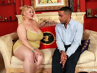 BBW Samantha 38G sucks Horny Black Fan