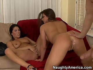 Face cumshot to London Keyes & Rachel Roxxx