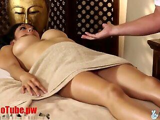 TrickySpa masseur Cock Massaged by asian Deep Throat