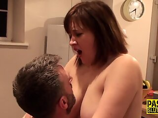 Submissive fat whore Laura Louise railed